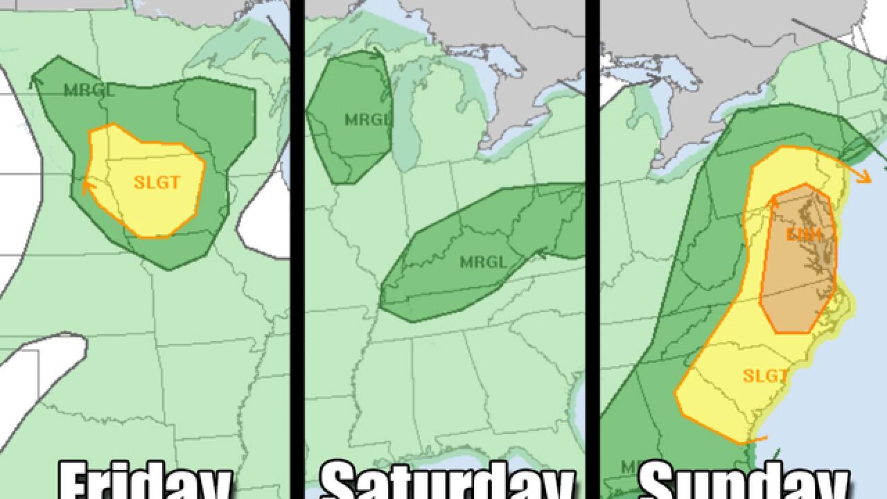 Weekend weather is wild across the U.S.