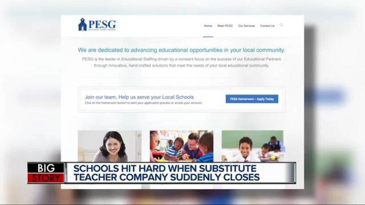 Substitute teaching company abruptly shuts down