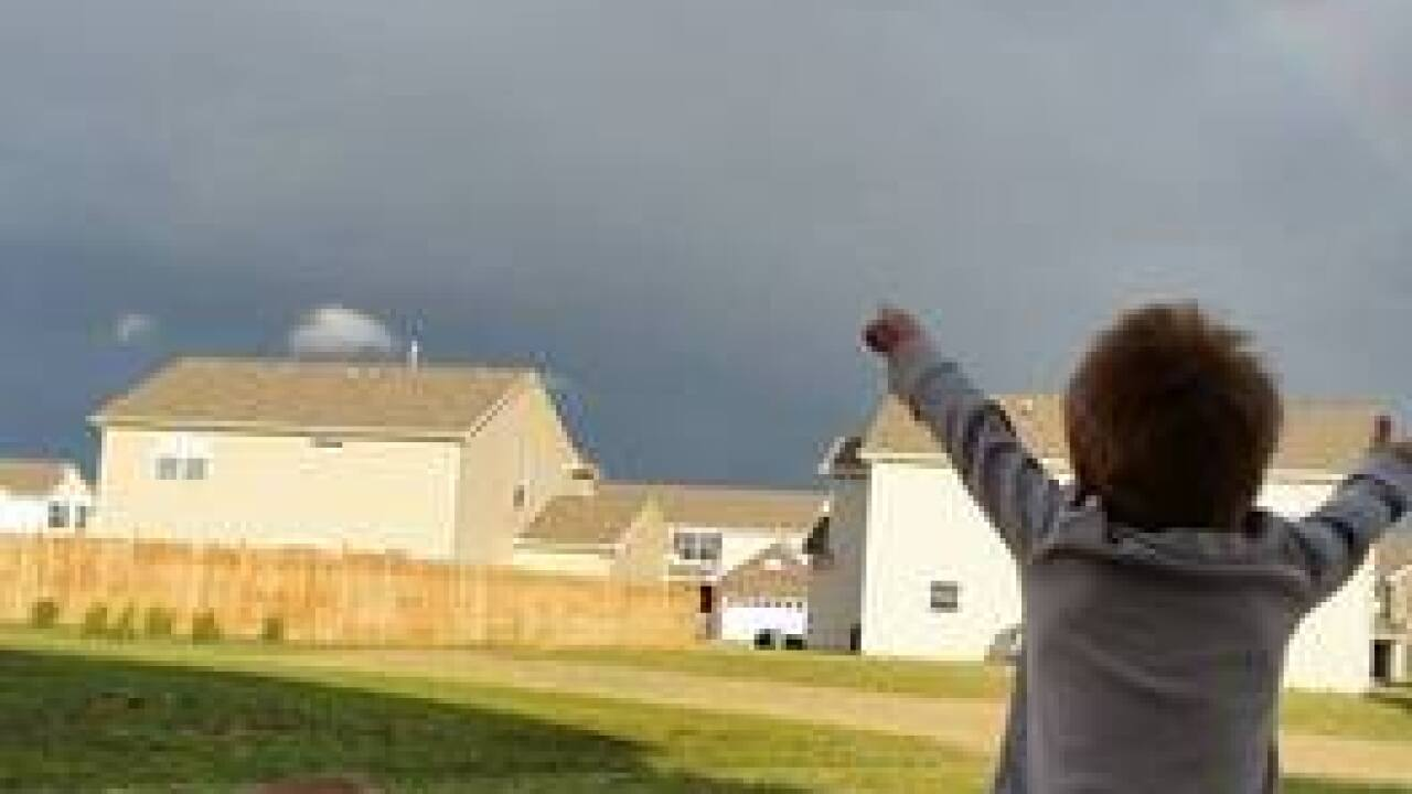 PHOTOS: Monday rainbow over central Indiana