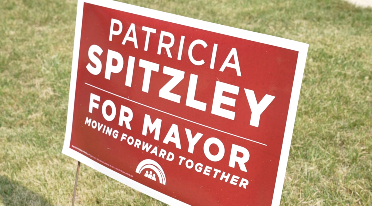 Patrica spitzley's campaign sign