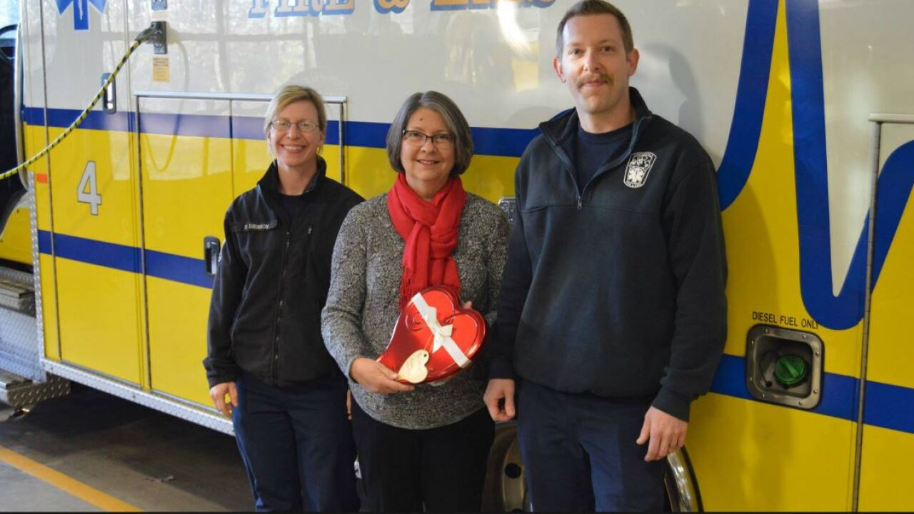 Woman thanks Chesterfield firefighters who saved her life