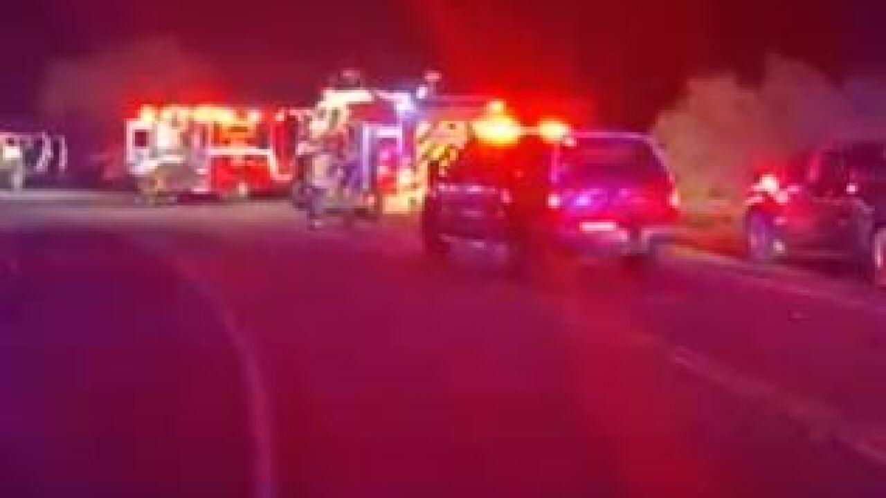 2-car crash near Lake Pleasant