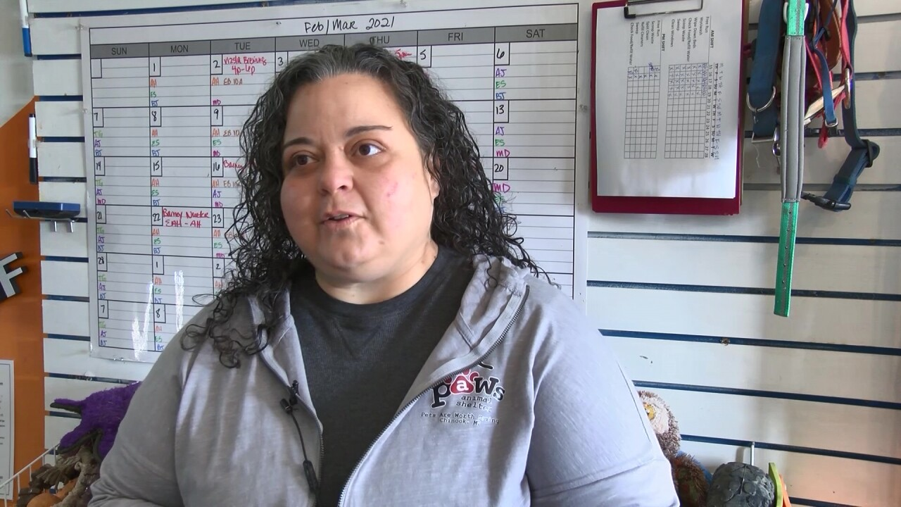 PAWS of Chinook manager Alissa Hewitt