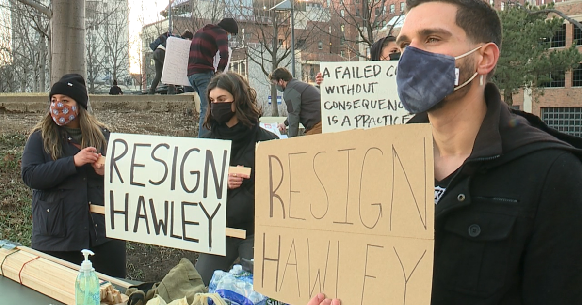 Protests call for Senator Hawley to resign