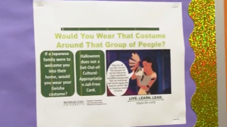 Michigan State fliers concerning culturally-based Halloween costumes has some students upset