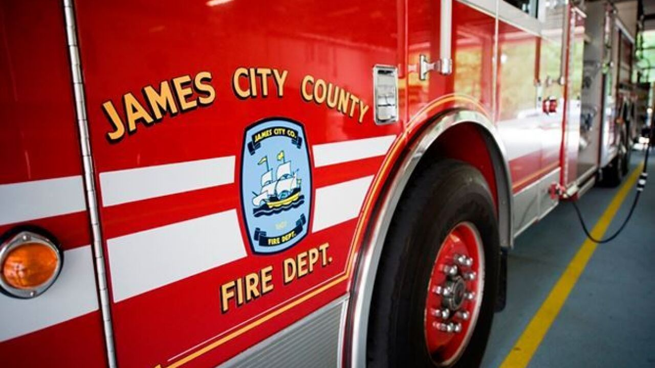 James City County firefighters respond to fire at metal recycling business