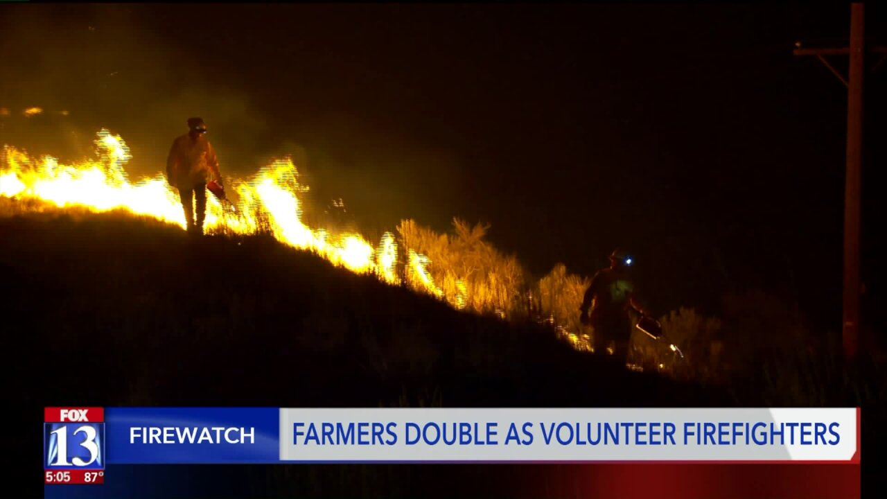 Farmers band together to battle fire, risking their lives to helpcommunity