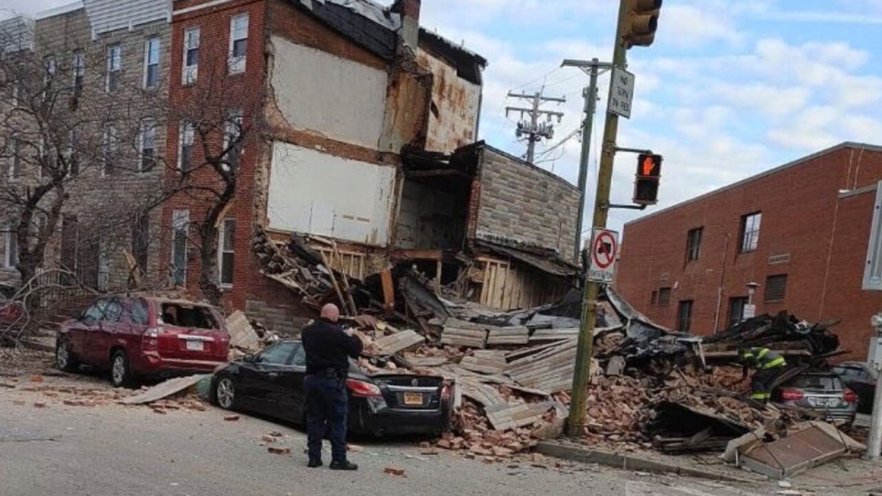 Building collapses in Baltimore's Pigtown neighborhood.jpg