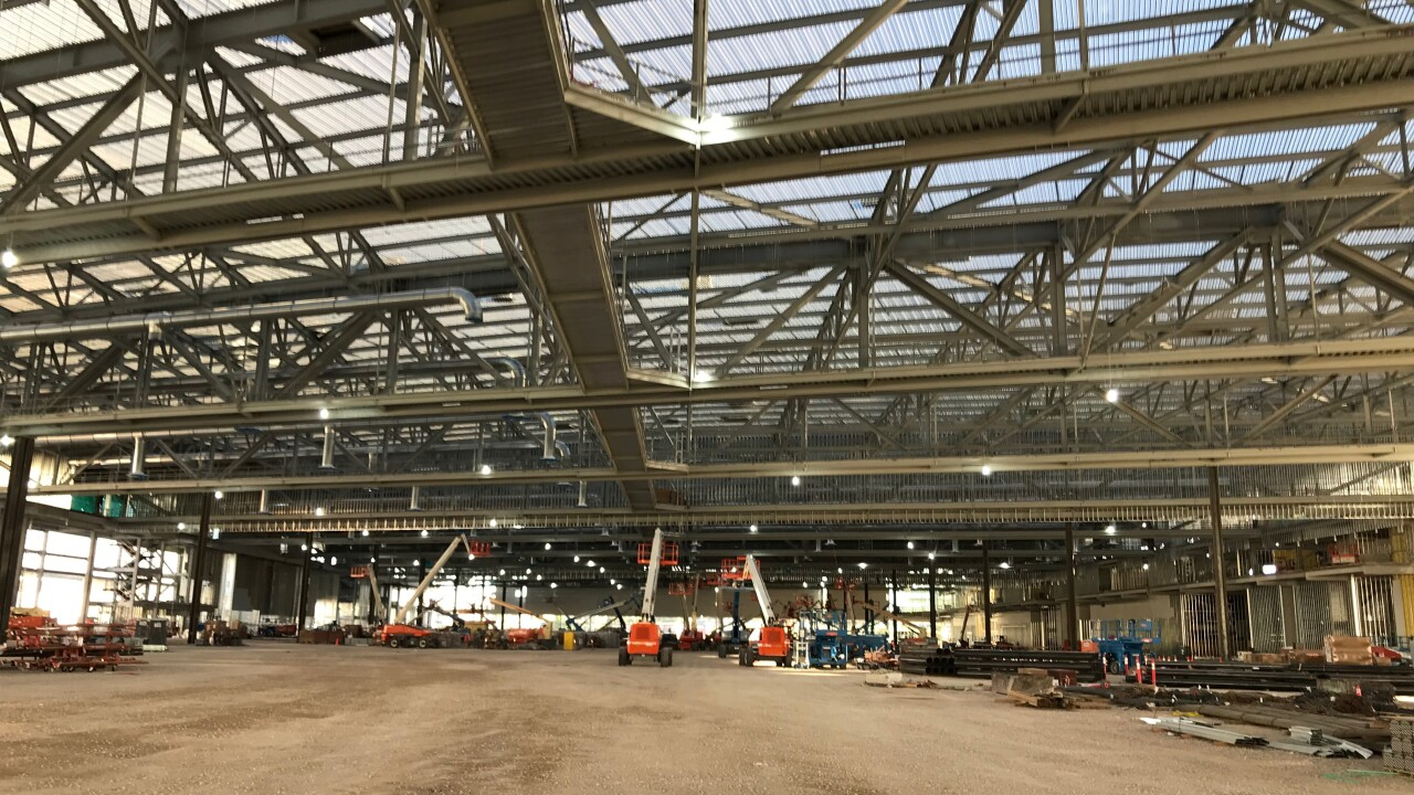 Photos of the progress at the Las Vegas Convention Center which is now more than 50 percent complete as of October 2019
