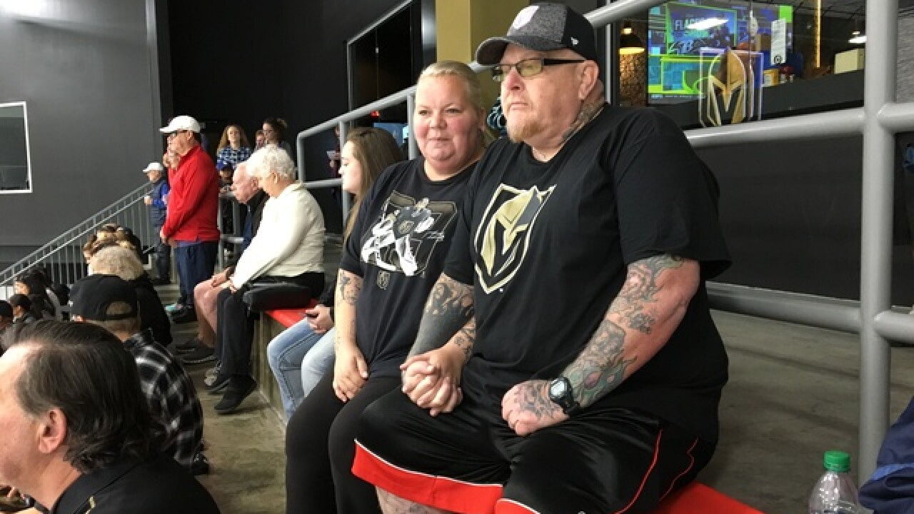 VGK fan fighting cancer supported by other fans