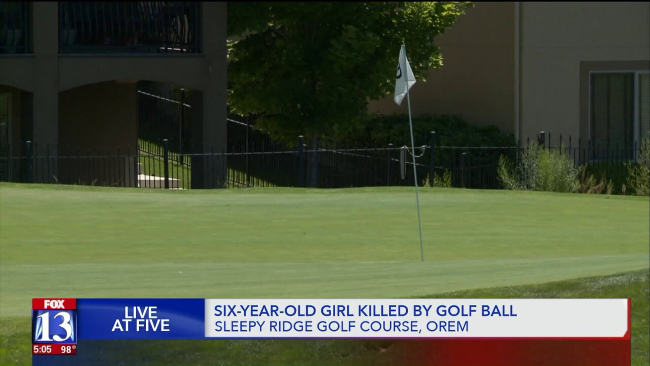 6-year-old dies after being hit by golf ball