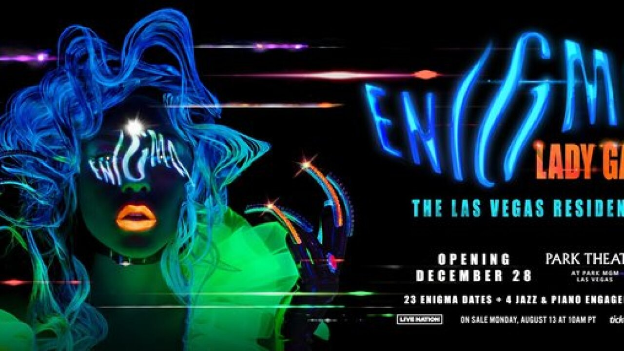 Dates announced for Lady Gaga's Las Vegas residency