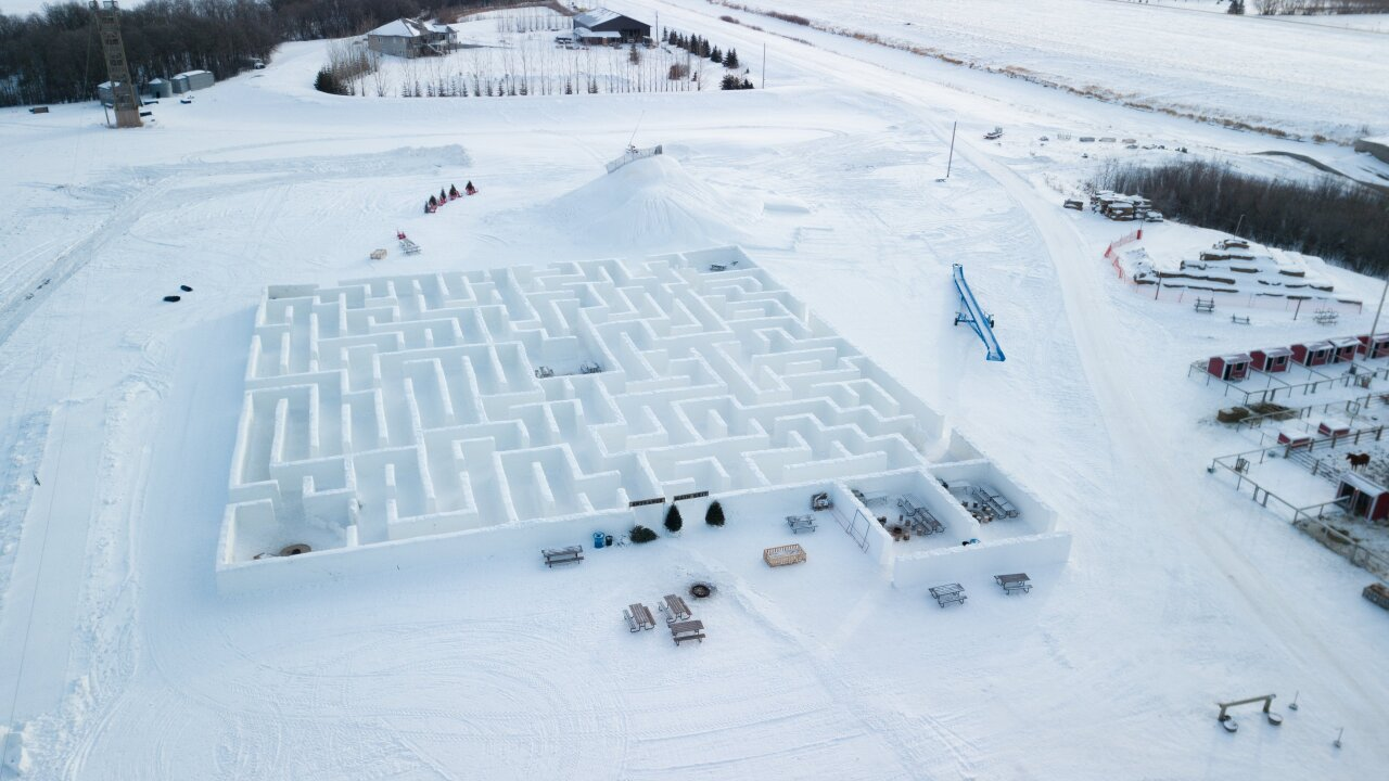 This massive snow maze in Canada just set a world record
