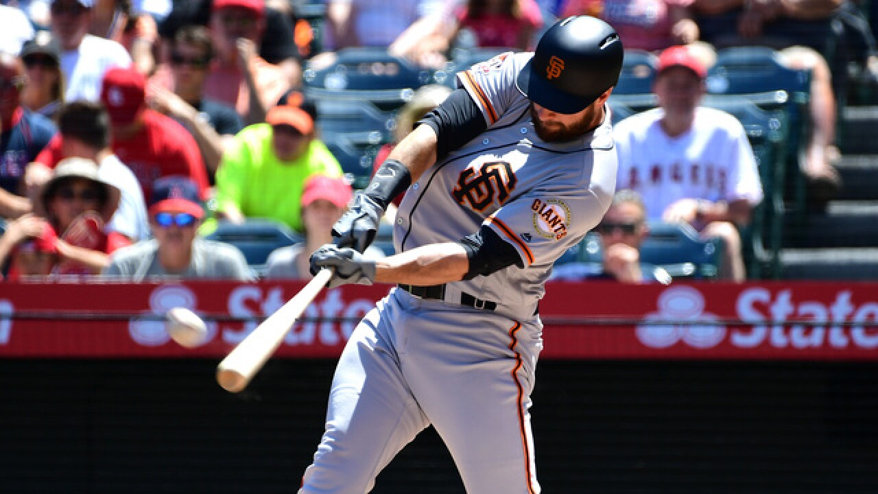 Brandon Belt has 21-pitch at-bat, later homers as Giants beat Angels