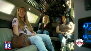 Three Utah moms get picked up in a limo, showered with early Mother's Day Gifts