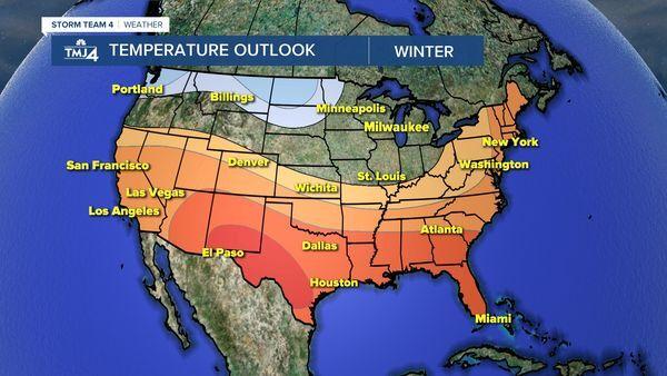NOAA Winter Temperature Forecast