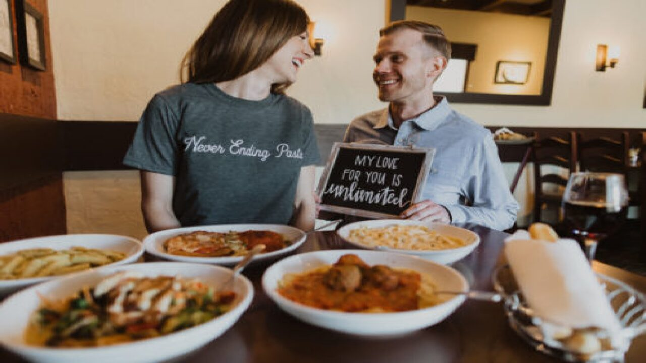 This Couple's Engagement Photos Will Have You Craving Olive Garden