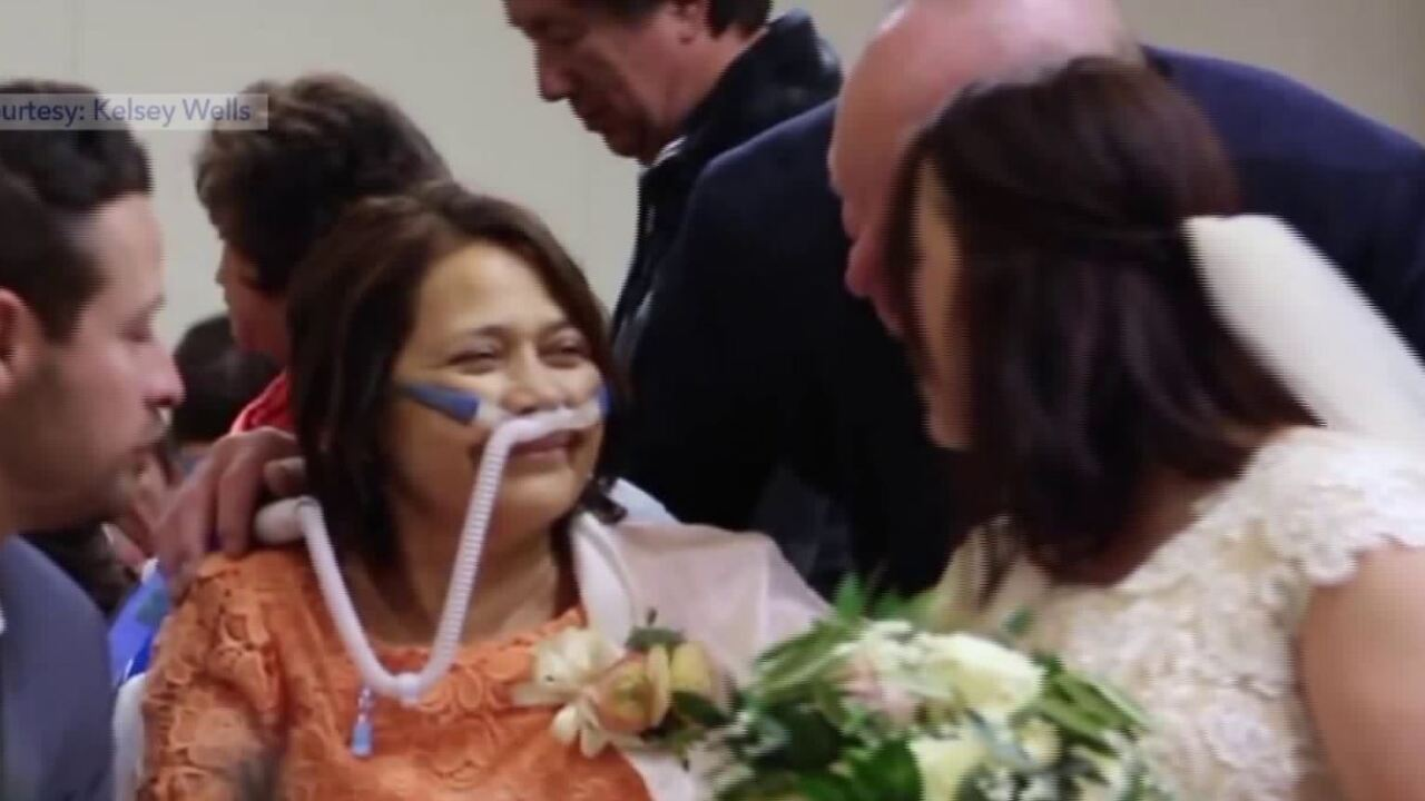 Utah bride has emotional wedding at hospital, so mother dying of breast cancer canattend