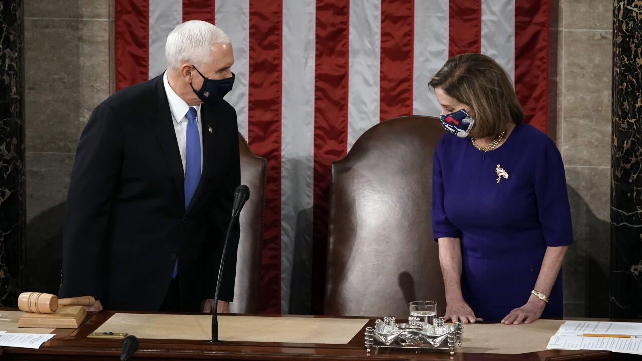 Nancy Pelosi, Mike Pence