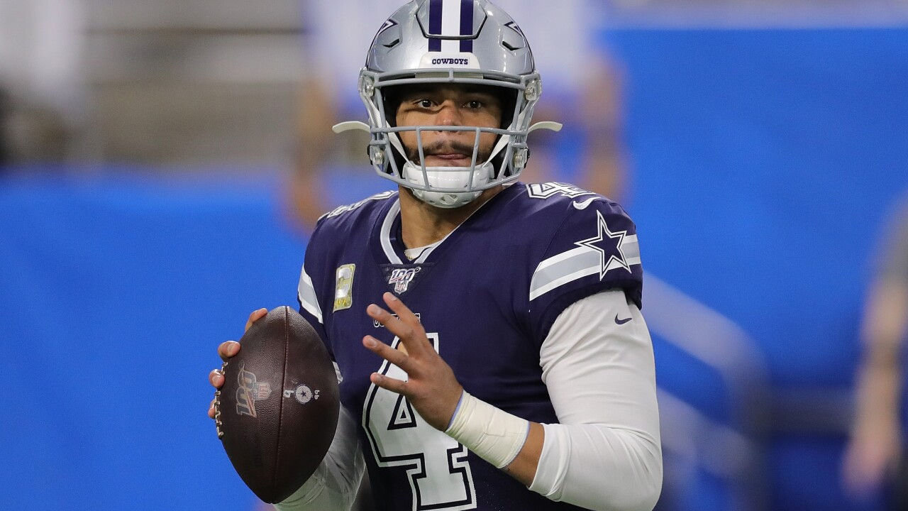 Cowboys quarterback Dak Prescott is held out of practice with a shoulder injury