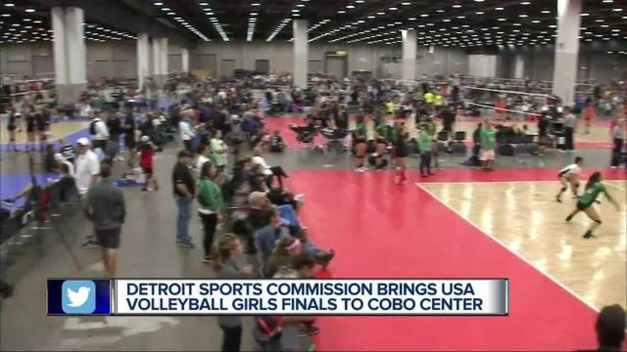 Volleyball takes over Detroit's Cobo Center with girls national championships