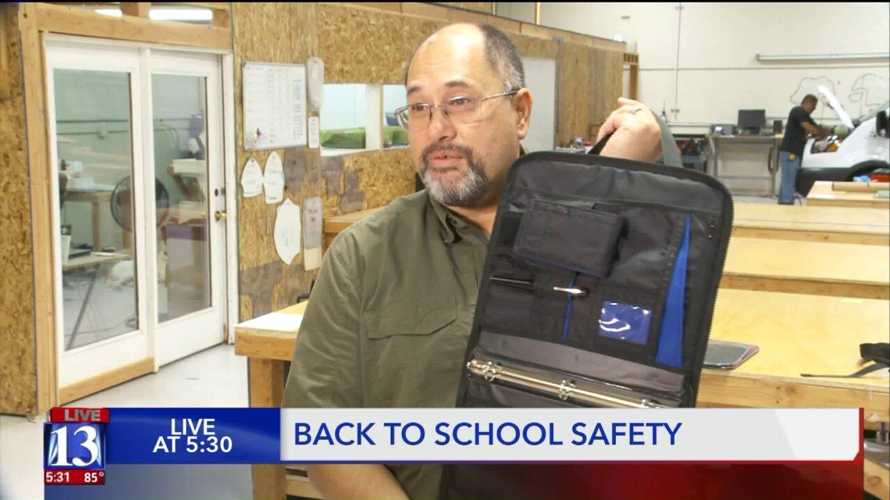 Utah company makes bulletproof back-to-schoolgear