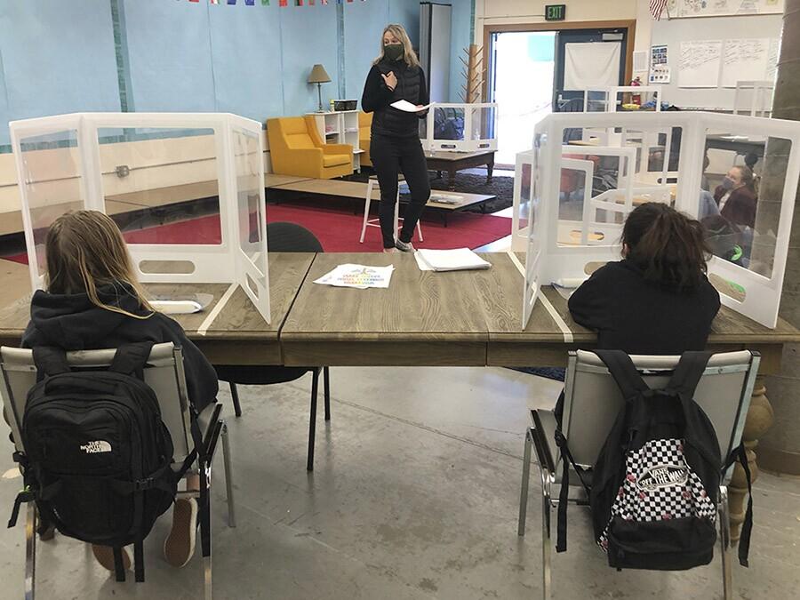 california schools distanced desks classroom