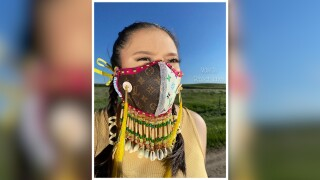 Chippewa Cree fashion designer's face mask art draws fans worldwide