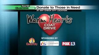 Business Now: Check City's Warm Hearts Coat Drive