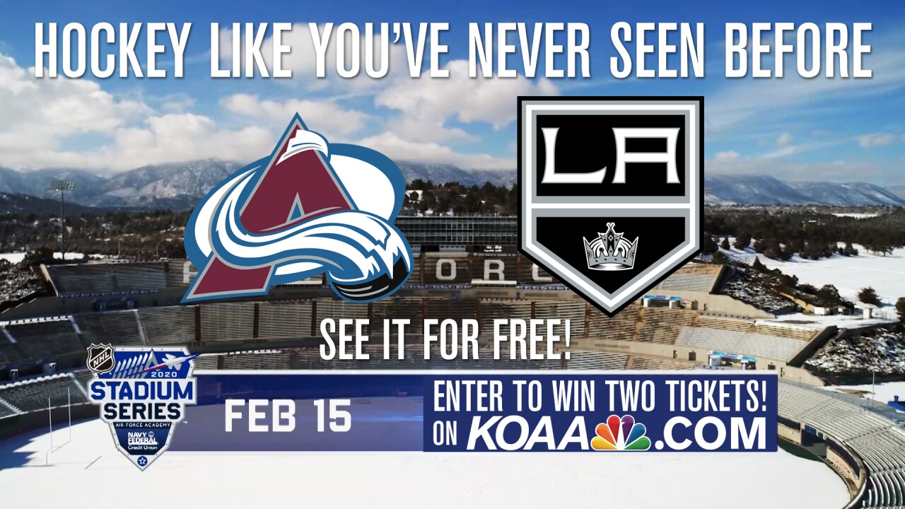 Enter to win two tickets to see NHL hockey like you've never seen it before as the Colorado Avalanche face the Los Angeles Kings at the US Air Force Academy's Falcon Stadium.