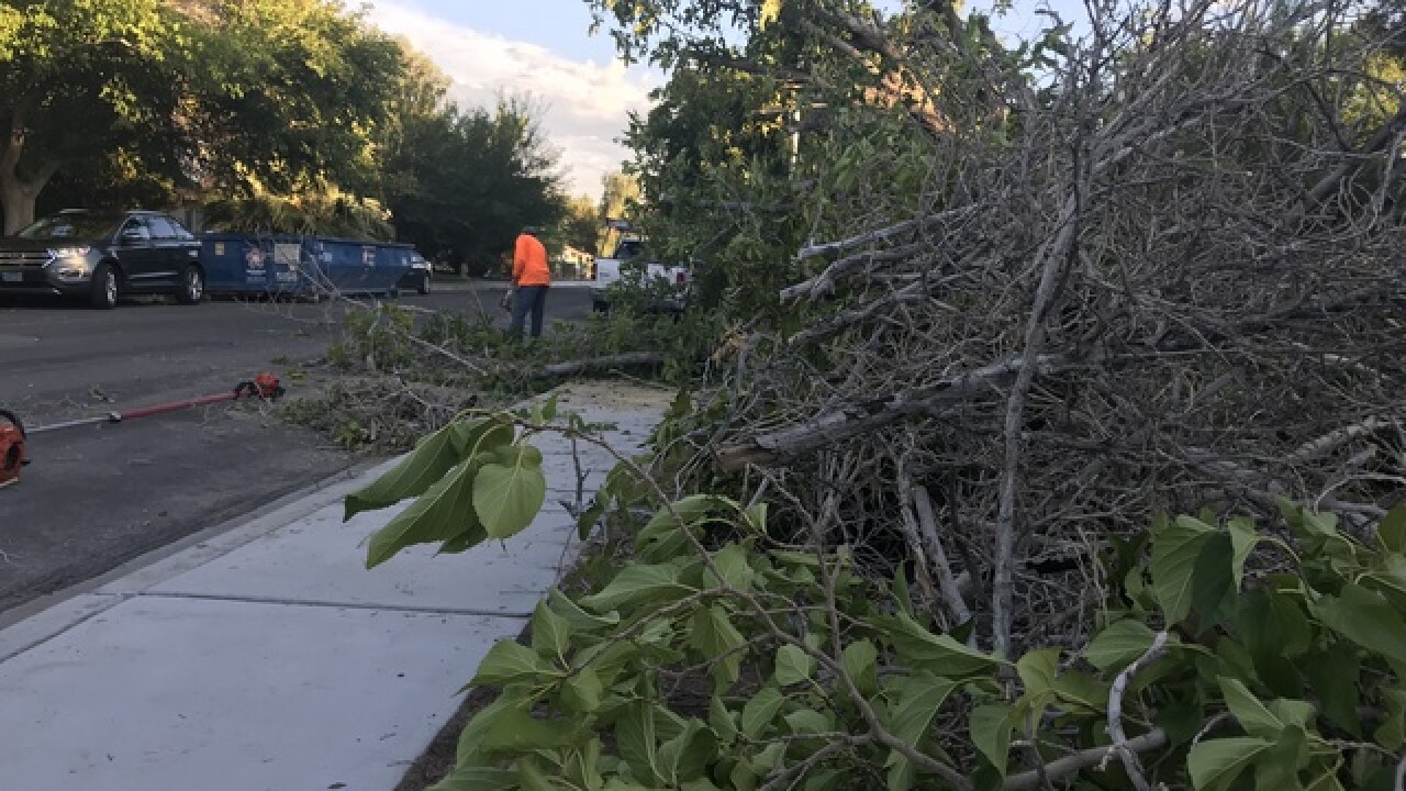Las Vegas neighborhood hit hard by strong storm