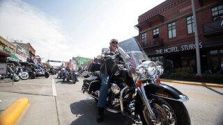 Virus Outbreak Motorcycle Rally