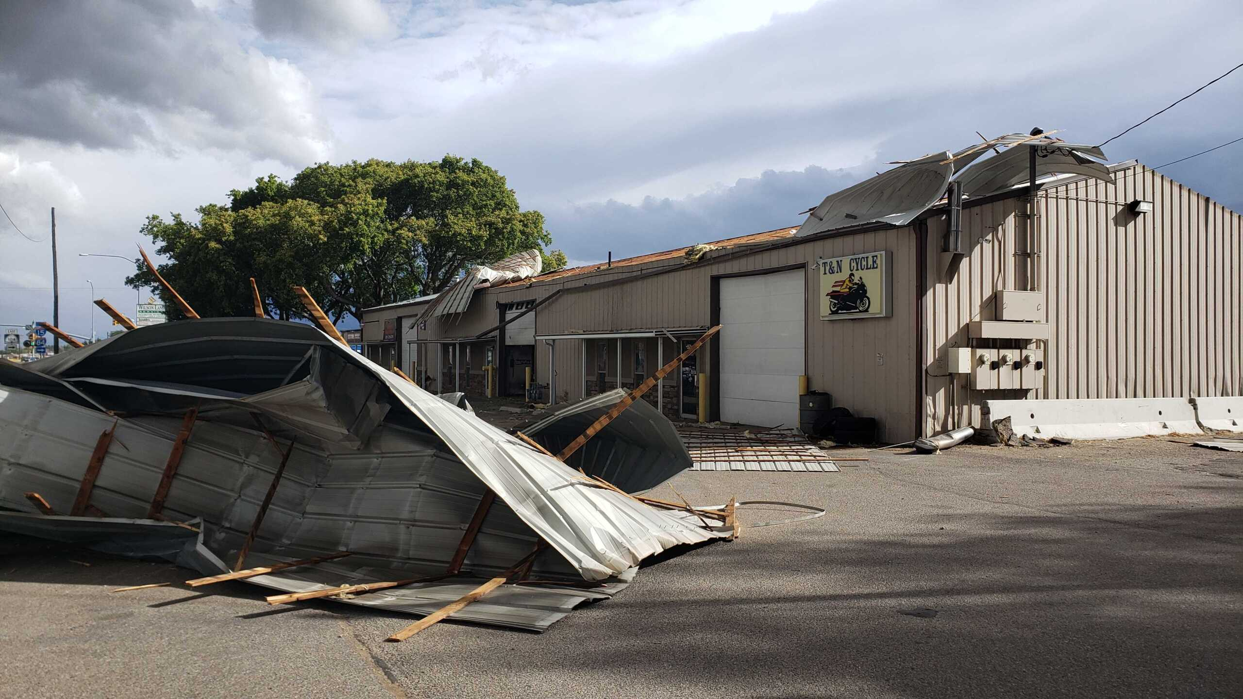 Roof ripped off T and N Cycle in Ogden2.jpg