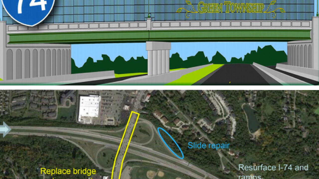 North Bend Bridge project over I-74 in Green Township to be complete in late August