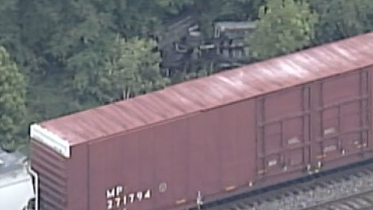 Two Liberty employees injured in train crash