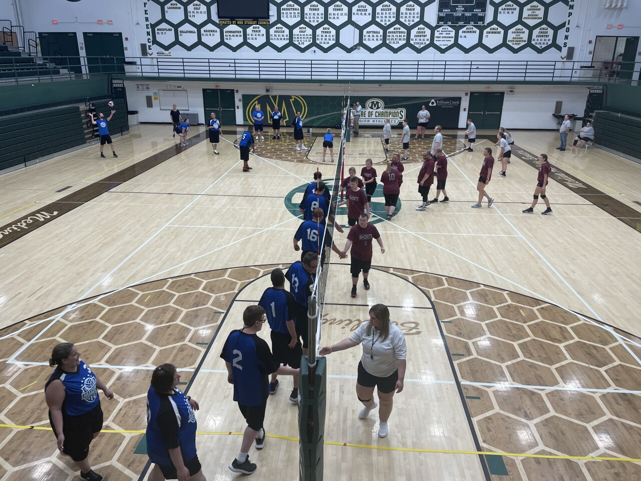 Athletes competing in volleyball at Medina Special Olympics Invite .jpeg