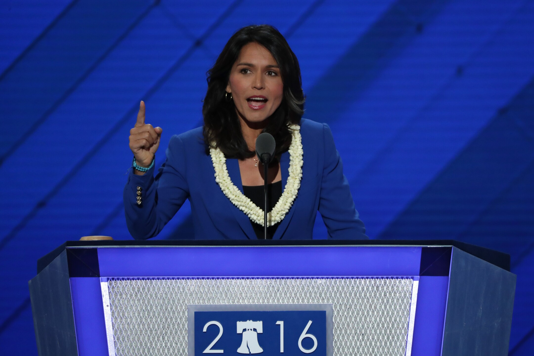 Tulsi Gabbard is a Hawaii politician who announced her candidacy in January 2019.