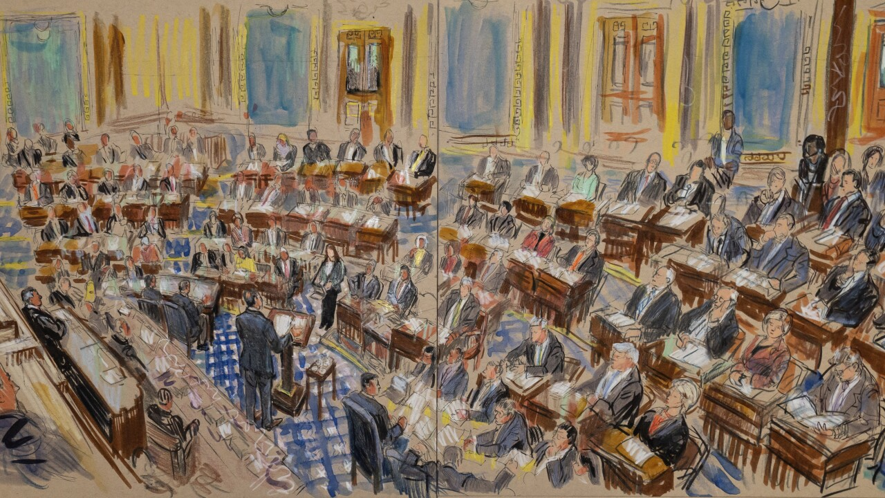 Without cameras in the Senate, sketches deliver images of Trump's impeachment trial