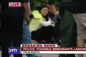 Asian migrants caught coming ashore on Palm Beach