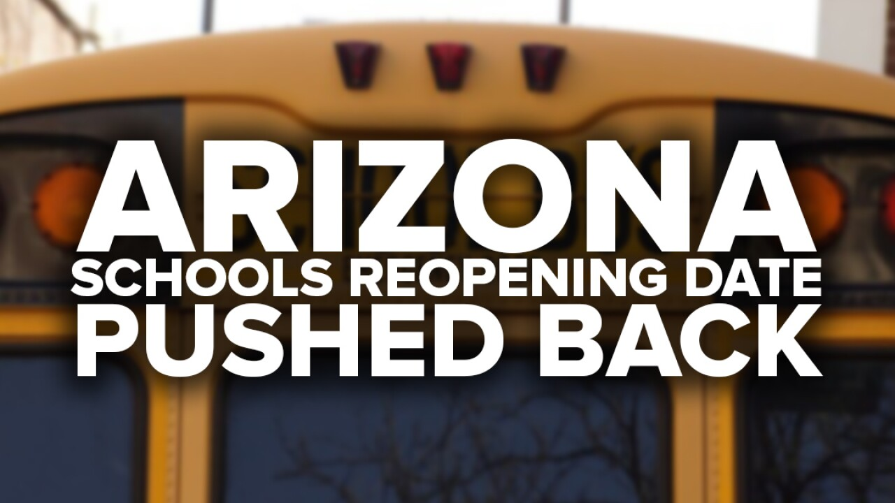 School reopening dates pushed back amid spike in Arizona coronavirus cases