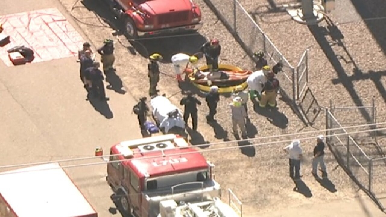 MCSO working to rescue man stuck in pipe