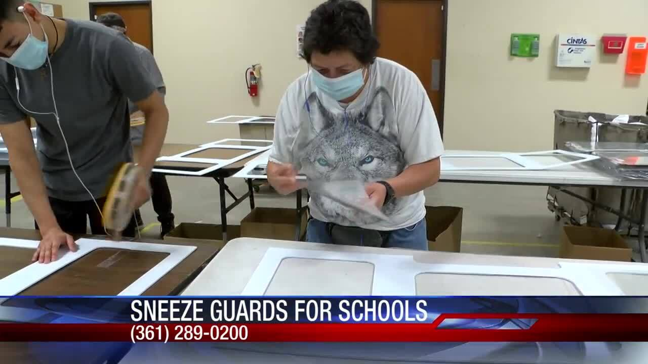 South Texas Lighthouse for the Blind making sneeze guards for local schools