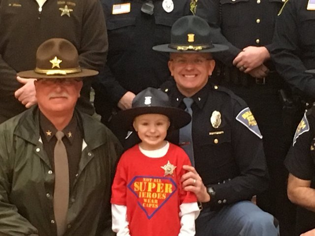PHOTOS: Indiana kindergartner with cancer gets 'swear-in' ceremony