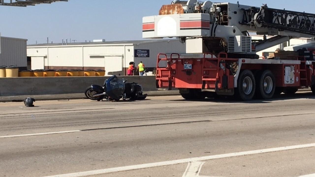 Motorcycle crash shuts down Highway 169 NB