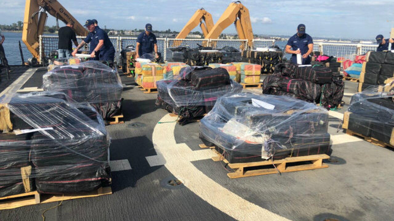 Coast Guard unloads 11 tons of cocaine in SD