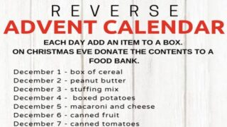 This Genius 'Reverse Advent Calendar' Helps You Make A Generous Donation To Your Local Food Bank