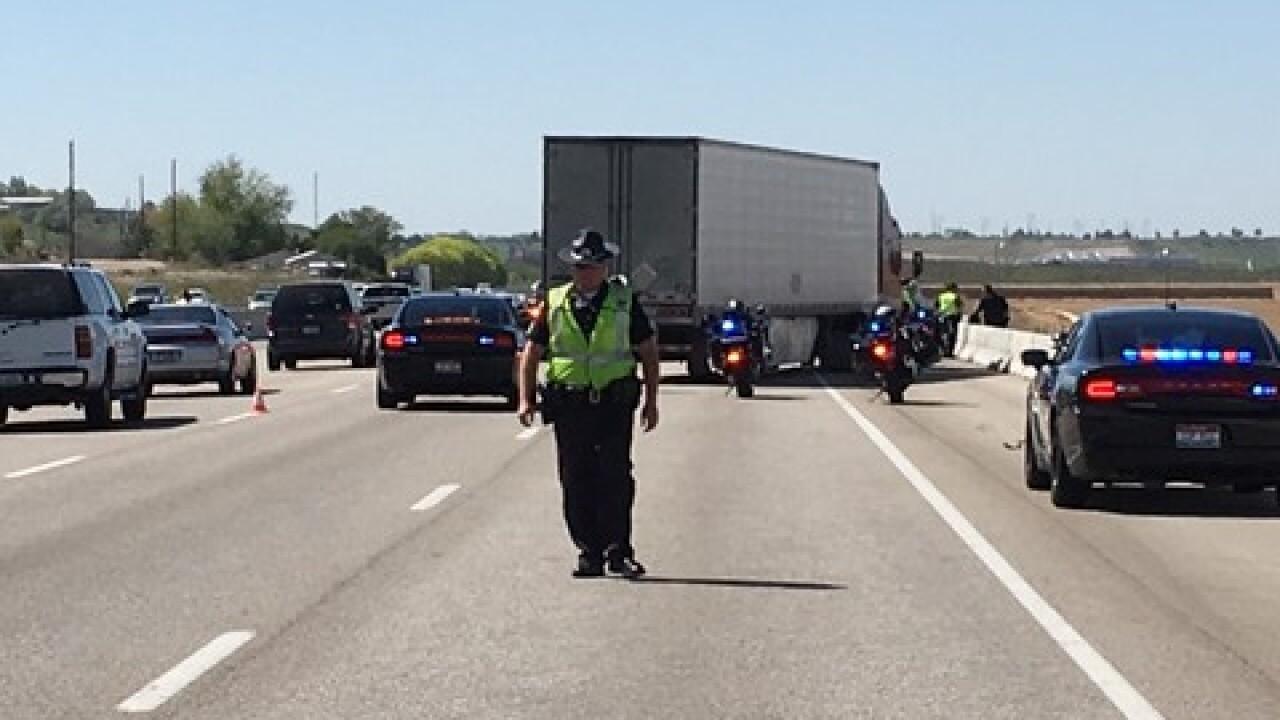 Crash involving ISP trooper slows traffic