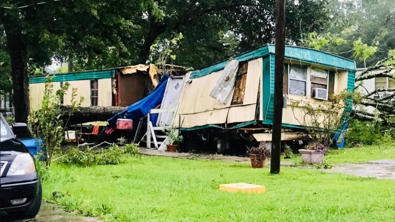 Home destoryed in Patterson, Louisiana