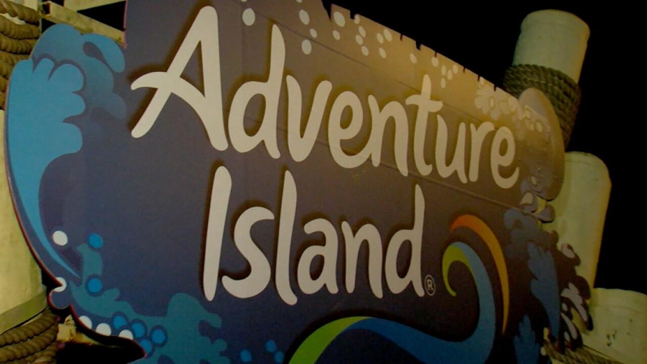 Adventure Island sign