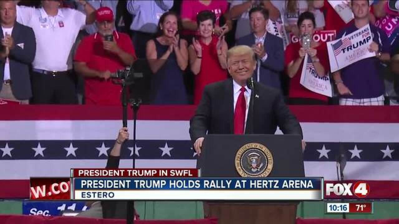 President Trump holds rally in Southwest Florida